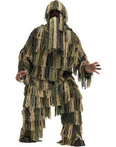 Déguisement Ghillie camouflage adulte