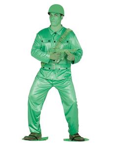 Déguisement soldat en plastique homme