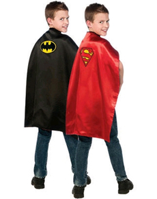 Cape Batman et Superman réversible enfant