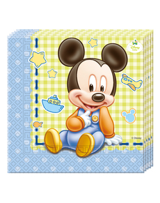 20 serviettes Baby Mickey